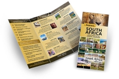 South Africa Travel and Tours Tri-Fold Brochure