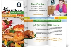 Bob's Turkey Farm Tri-Fold Brochure