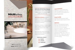 Solid Surface Tri-Fold Brochure